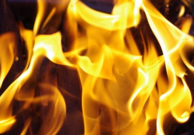 Feuerschale, Garten, Feuer, Flammen, Waschmaschinentrommel, Leipzig, Sommersonnenwende, Lagerfeuer, bonfire