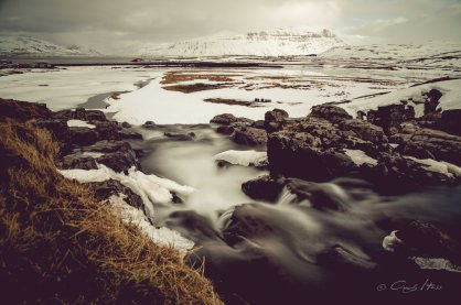 Island, Iceland, Wasserfall, waterfall, Snaefellsness, Grundarfjördur, winter